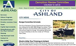 City of Ashland Website
